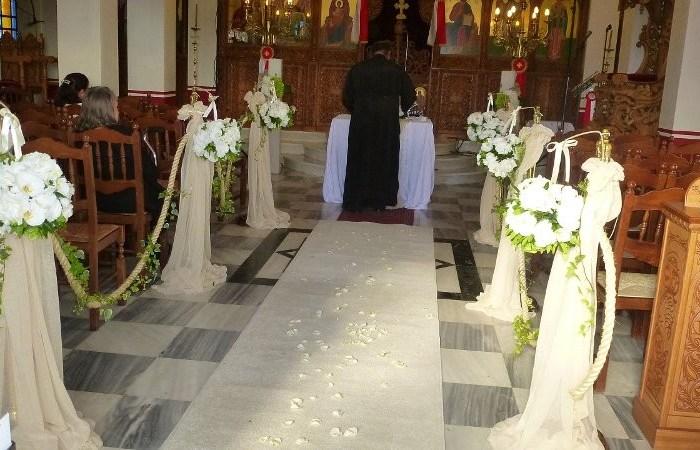 Γάμος – Εσωτερικός στολισμός εκκλησίας