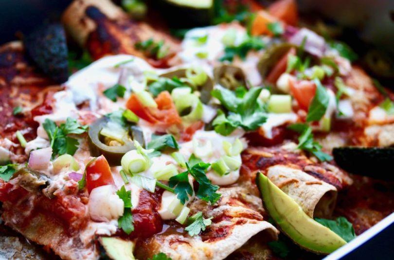 Kjúklinga enchiladas