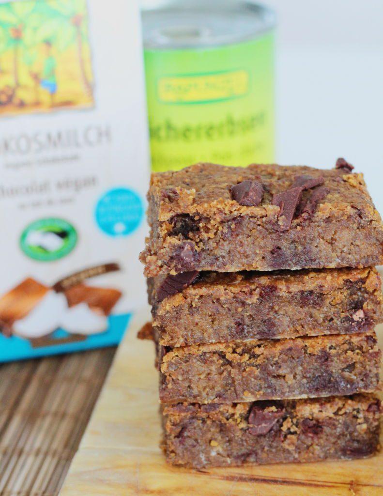 Vegan brownies með kókossúkkulaði