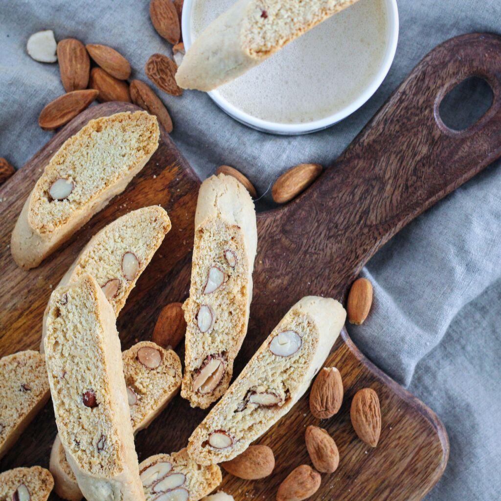 Ekta ítalskar biscotti með lífrænum möndlum