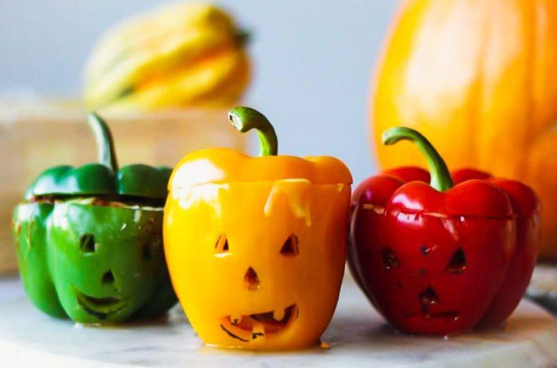Hrekkjavöku fylltar papriku bolognese