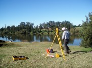 Dave Mitchell surveying the Nepean