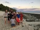Teaching staff enjoying the last sunset on Heron Island
