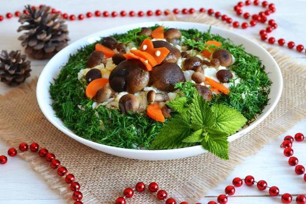 Салат «грибная поляна» с опятами: фото, рецепты ...