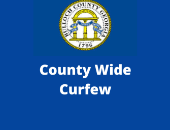 Bulloch County Implementing a Countywide Curfew
