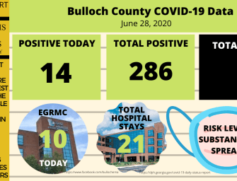 Bulloch County Daily COVID-19 Report – June 28, 2020