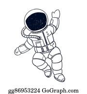 Astronaut Kid Clip Art - Royalty Free - GoGraph