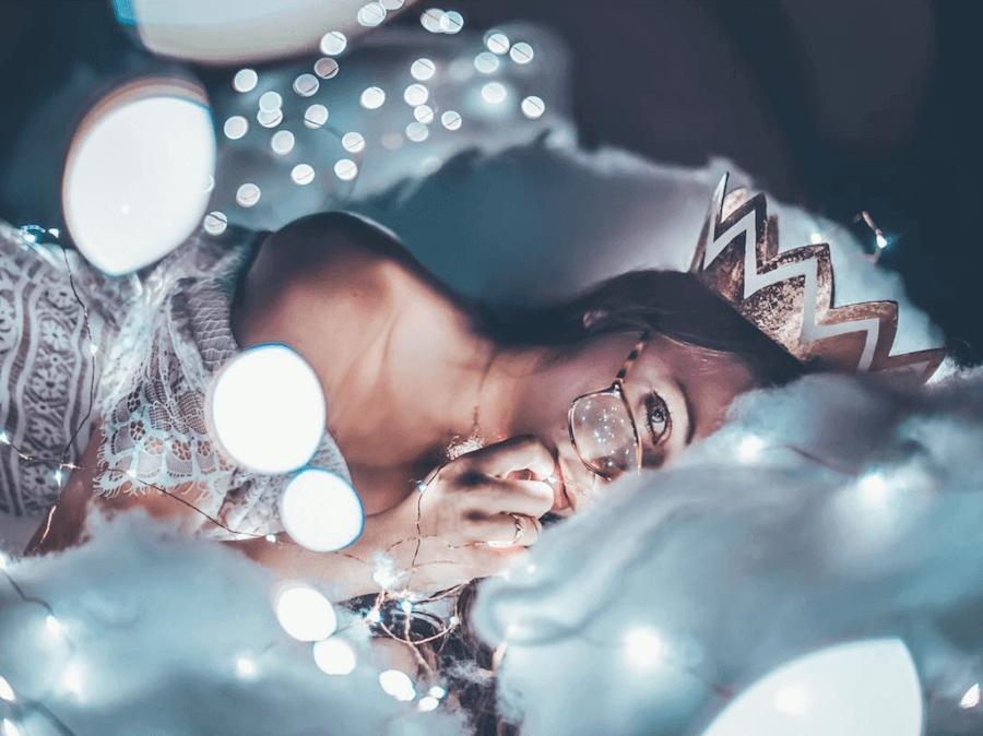 foreground fairy lights