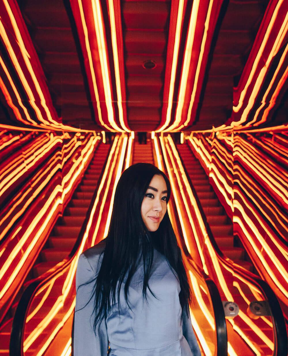 public hotel orange escalators new york