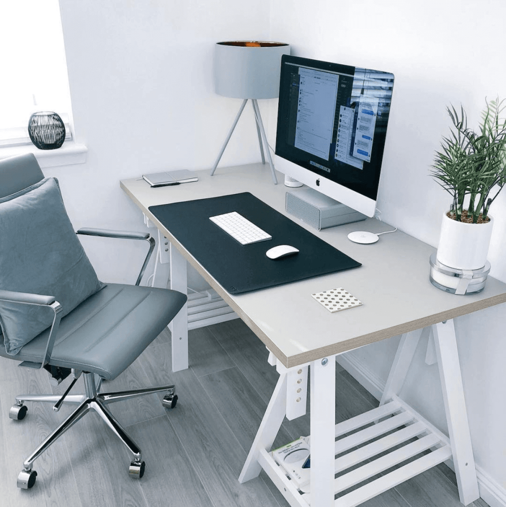 Minimalist desk setup by James Mcdonald