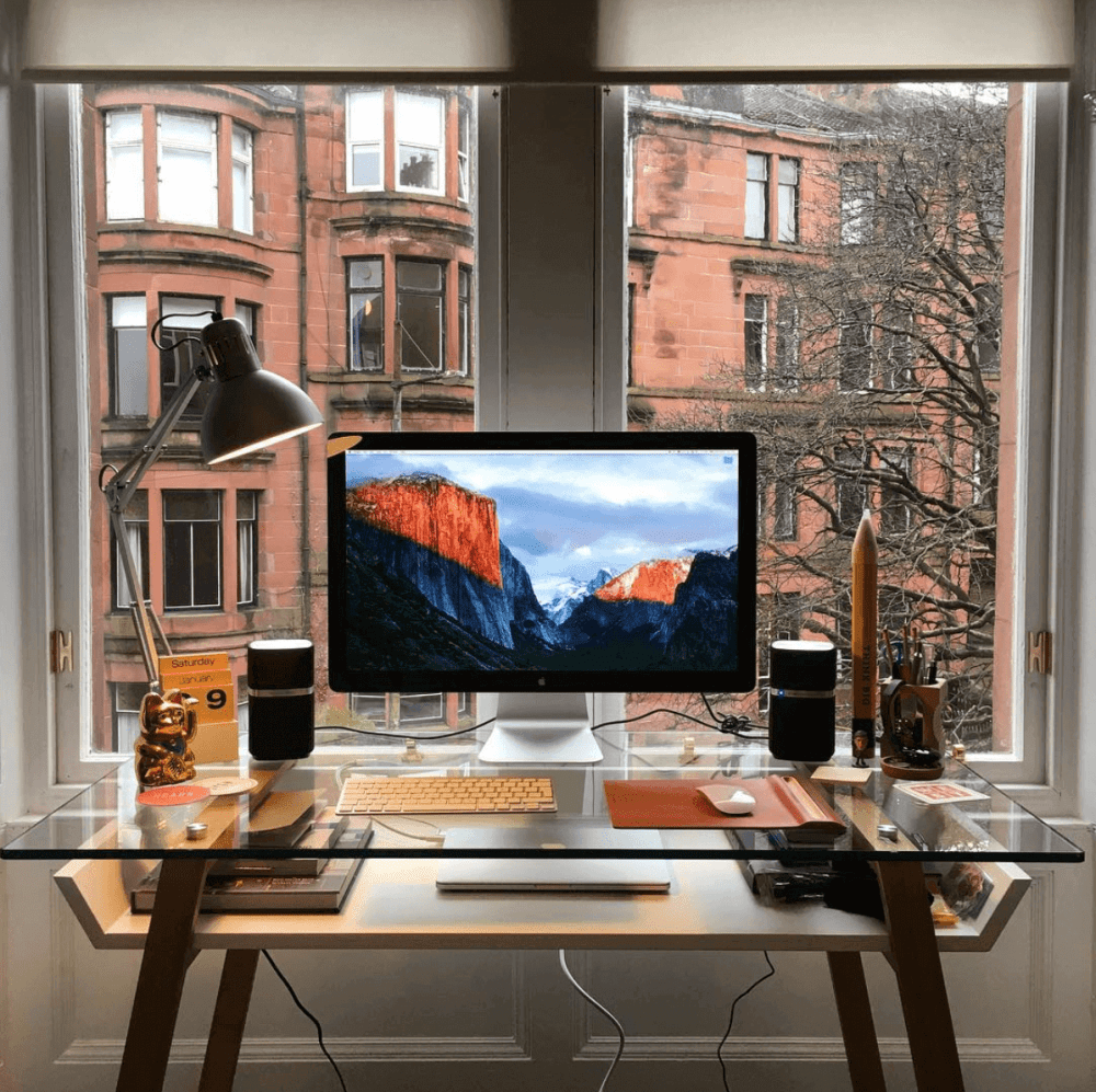 Scott's minimal desk workspace