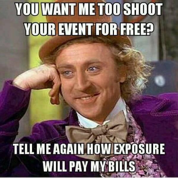 pay me in exposure meme