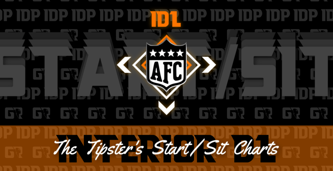 Fantasy Football's AFC Interior D-Lineman Championship WK16 Start/Sits