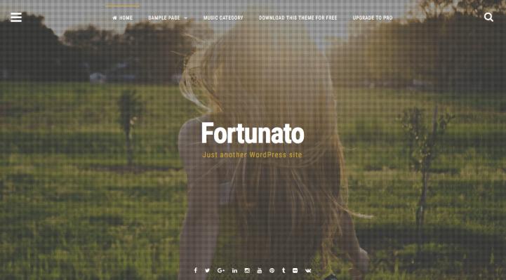 Fortunato WordPress Theme Screenshot
