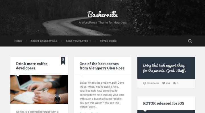 Baskerville WordPress theme screenshot