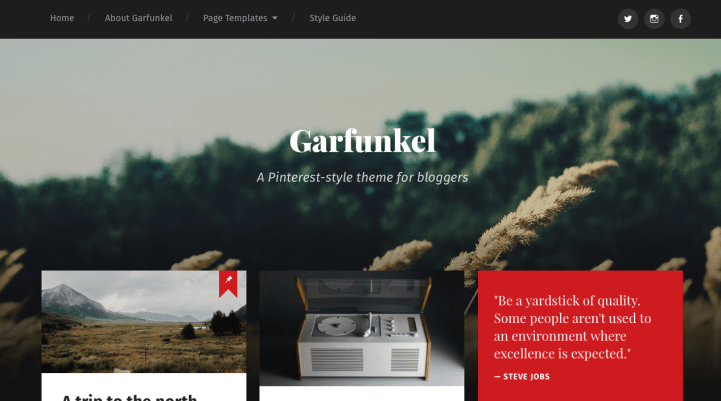 Garfunkel WordPress Theme Screenshot