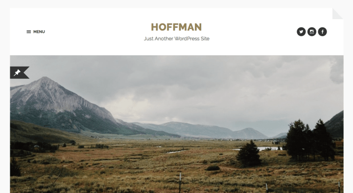 Hoffman WordPress theme screenshot