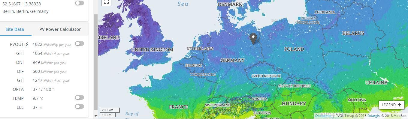 Berlin Solar Energy potential