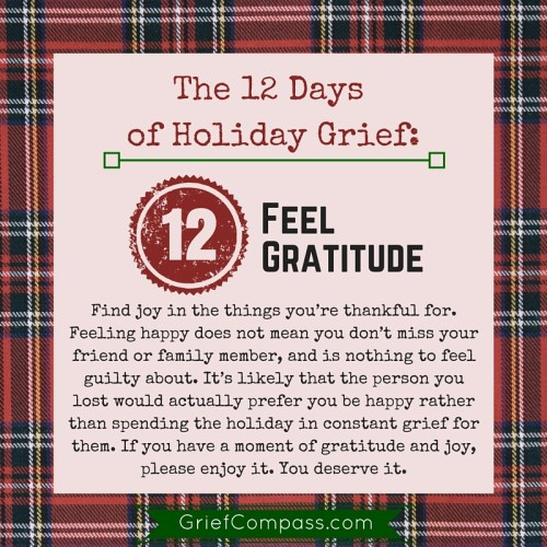 Grief Compass presents you with the 12 Days of Holiday Grief