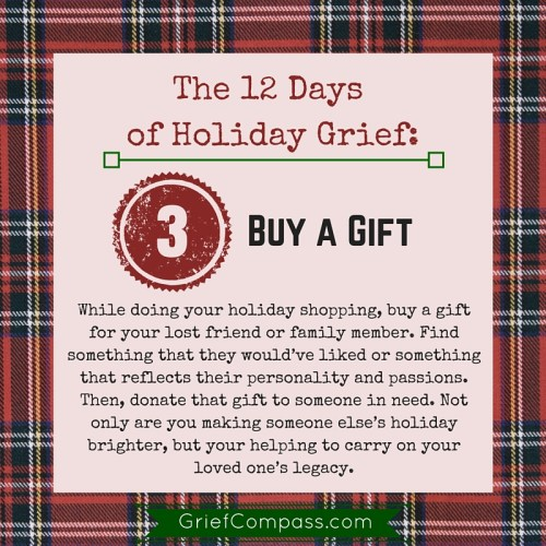Grief Compass Holiday Grief Tips