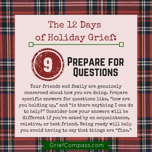 Holiday grief tips from Grief Compass