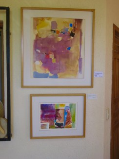 I see human forms in both of these paintings, the lower one humorous. Do you see what I see? Did Carol?