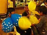 Wish I'd captured the balloon action between John and the kids, but at least I got the balloons and a bit of the kids.
