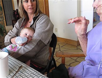 Maddie directs her attention to Great Great Aunt Jane.