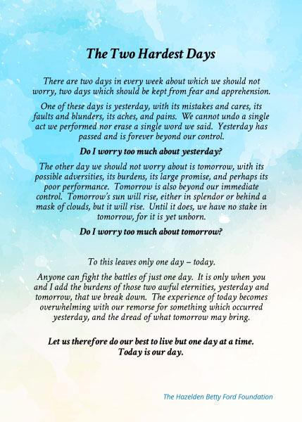 Poem: Two-Hardest-Days