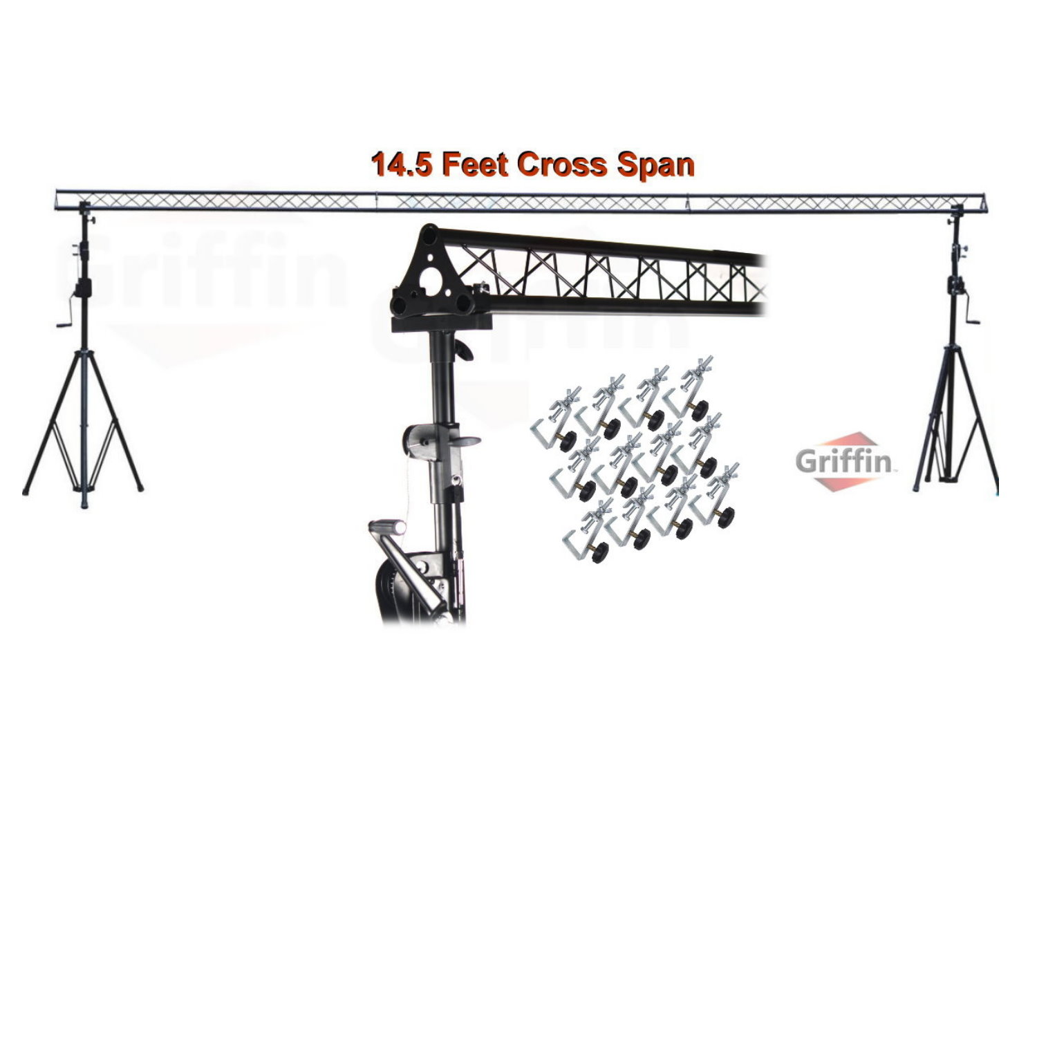 Crank Up Triangle Light Truss System By Griffin