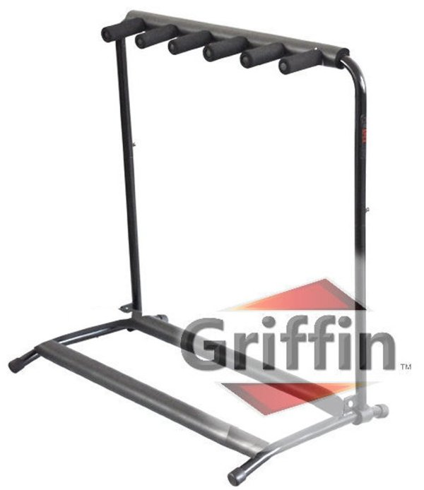 Five Guitar Rack Stand by Griffin – Holder for 5 Guitars ...