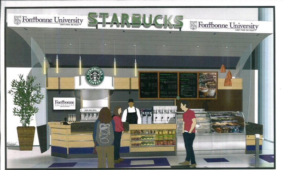 Artist's rendering of Starbucks