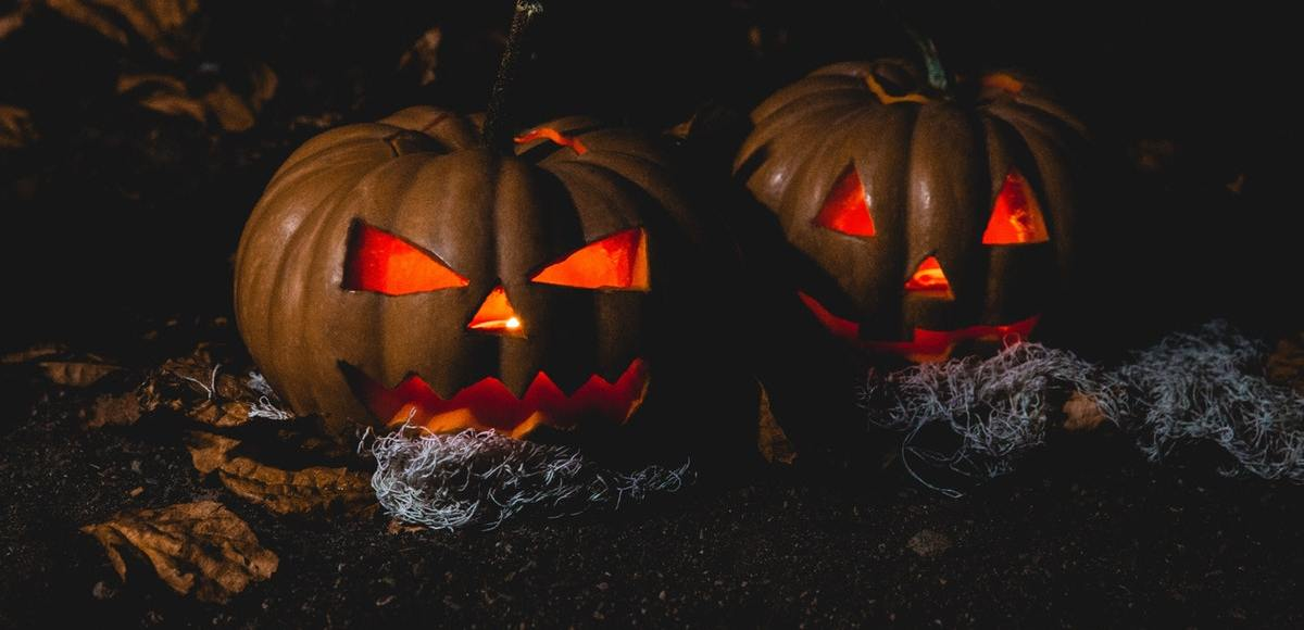 Two Halloween Jack-o-Lanterns