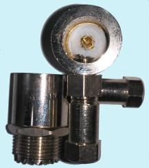 Conector Cachimbo UHF Femea RG58