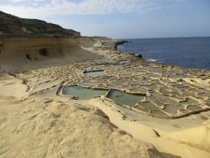 Salt pans at Marsalforn