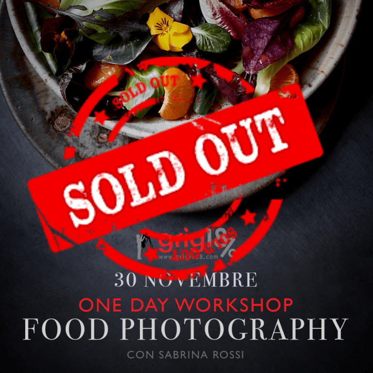 Workshop fotografia di food [sabato 30 novembre 2019 – Roma]
