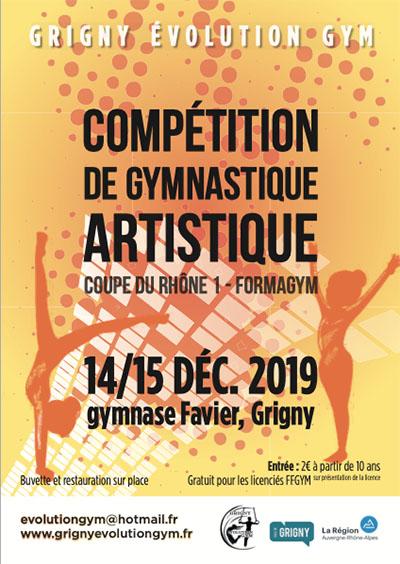 Compétition de gymnastique dimanche 15 décembre 2019