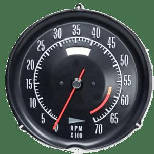 72-74 corvette tachometer 6000 redline