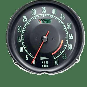 68-71 corvette tachometer 6000 redline