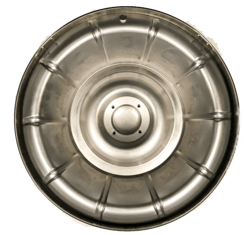 1956-1958 corvette hubcap rear