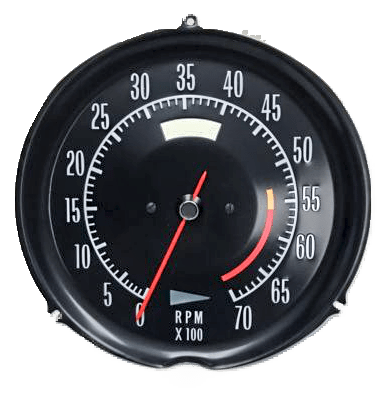 72-74 corvette tachometer 5600 redline