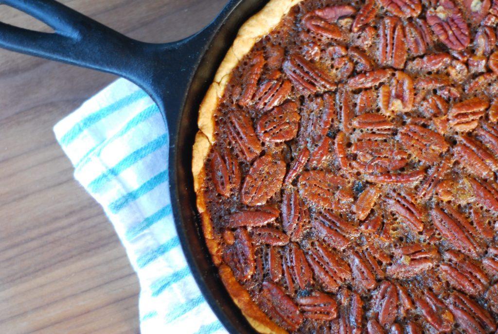 Bourbon and smoked pecan pie_smoked pecan pie