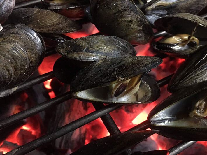 Grilled Mussels with Garlic Herb Butter
