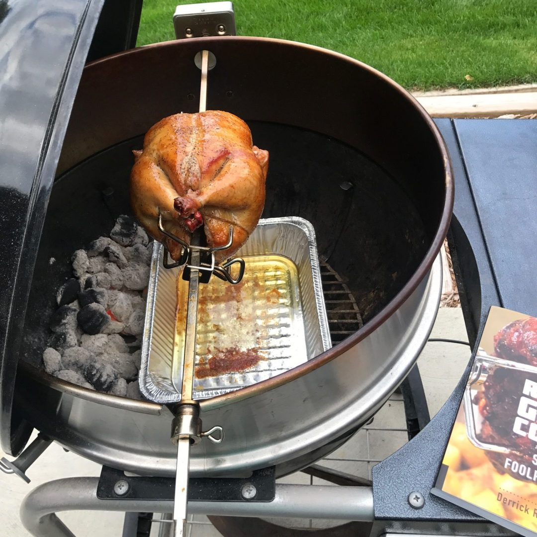 How To Rotisserie Grill Chicken on a Weber Kettle