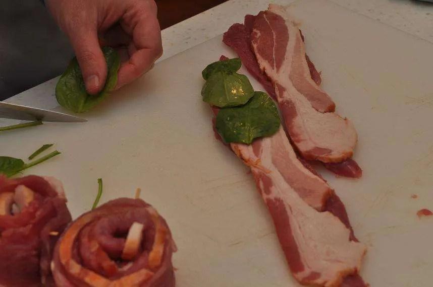 Bacon Tenderloin Pinwheels - 16 - Spinach
