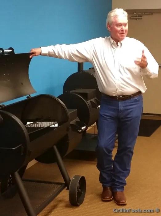 Oklahoma Joe and an Oklahoma Joe Smoker