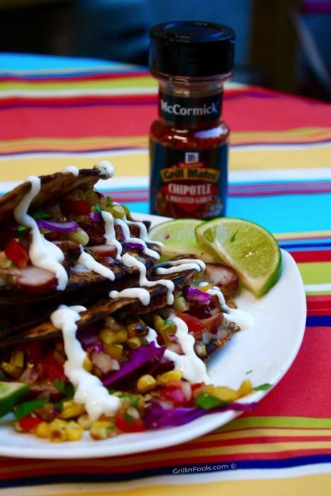 Chipotle Pork Tacos with Lime Sour Cream - 35