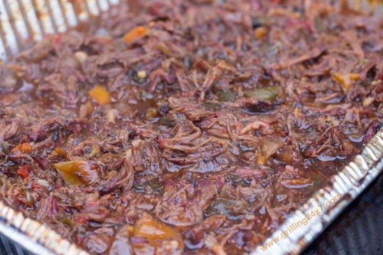 BBQ chuckies - pulled smoked BBQ chuck roast recipe
