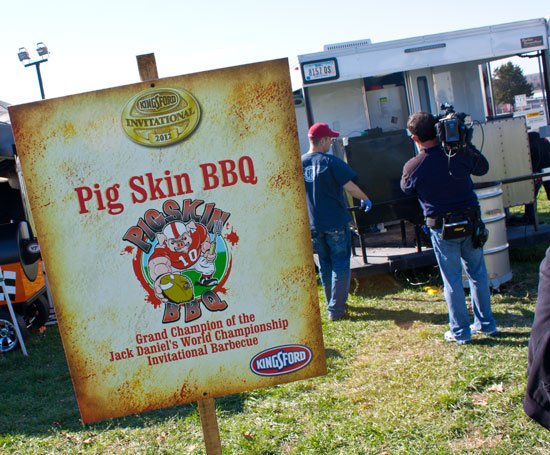 BBQ teams at the Kingsford Invitational - Pig Skin BBQ Team