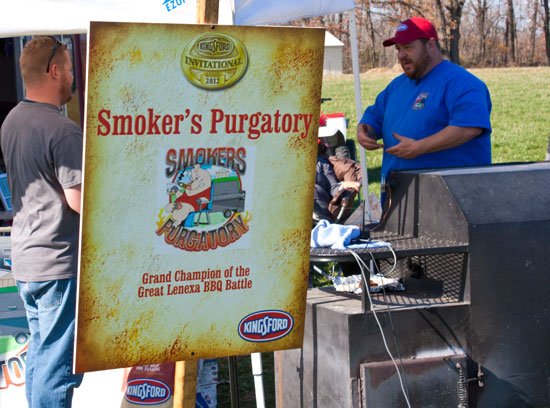 BBQ teams at the Kingsford Invitational - Smoker's Purgatory